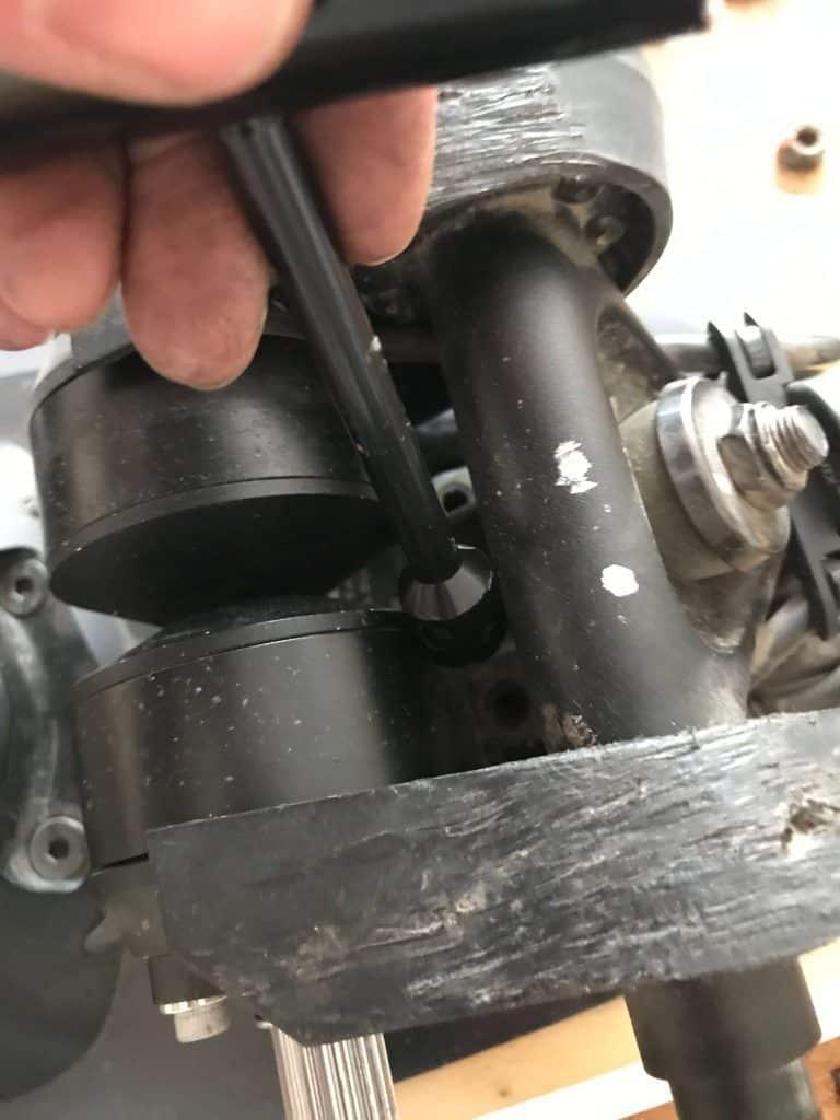 Removing rear truck